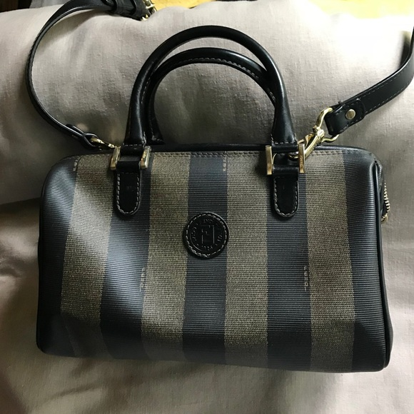 04672f9091 Fendi Handbags - Fendi authentic pequin stripe cross body handbag